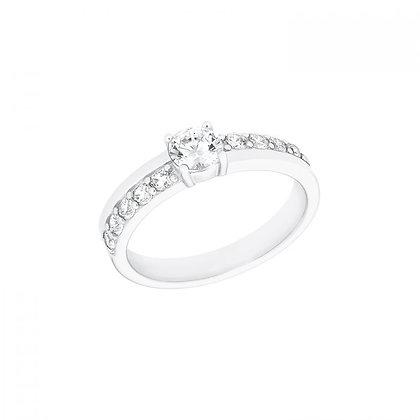 Ring mit Zirkonia, Silber 925