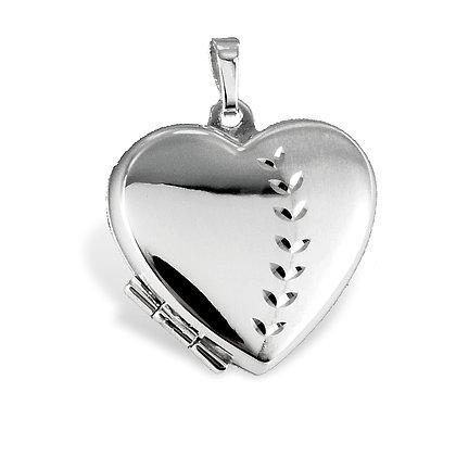 Medaillon Herz diamantiert - Silber 925 Silber