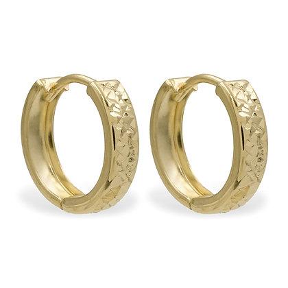 Klappcreolen 13/3mm diamantiert Gold 333