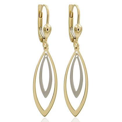 Ohrhänger 2-farbig Gold 333