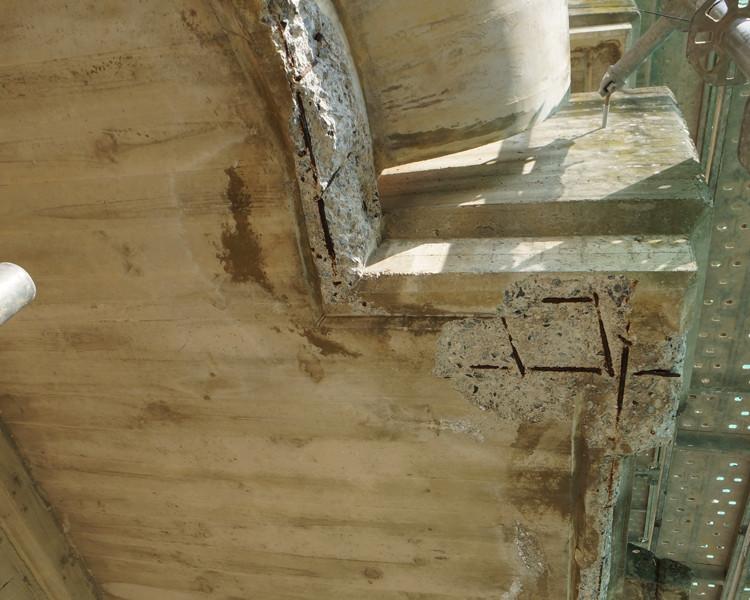 defectos en estructura de hormigón