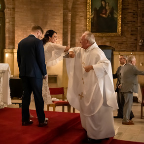 Covid Wedding Vows in a Catholic Church | Minneapolis