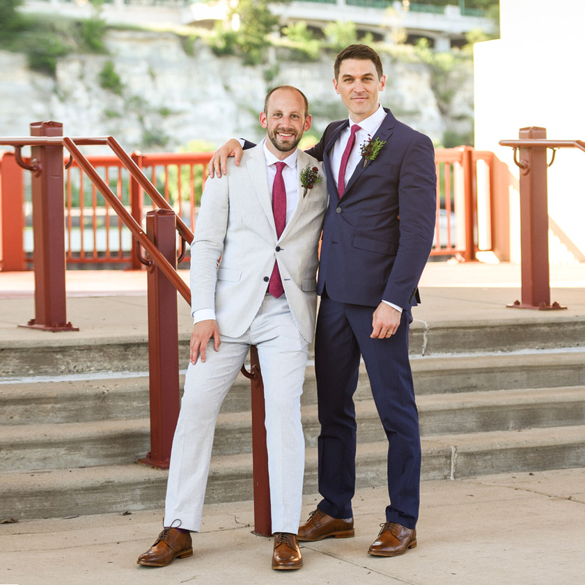 Two Grooms on Wedding Day in St. Paul, MN