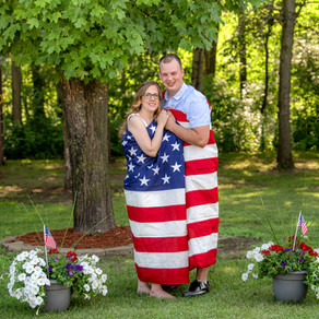 4th of July Covid Wedding Wrapped up in Red, White & Blue