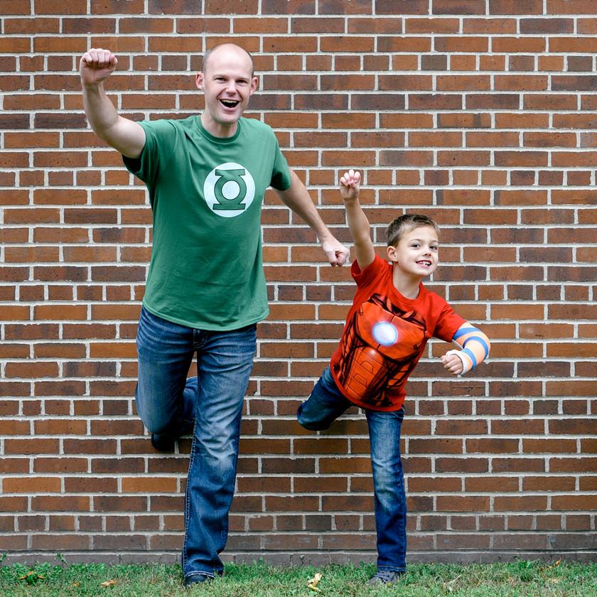 Superhero Themed Family Photoshoot