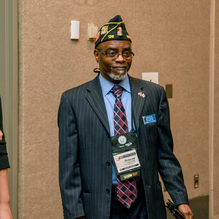 Veteran at Elizabeth Dole Foundation 'Salute to Hidden Heroes' Event