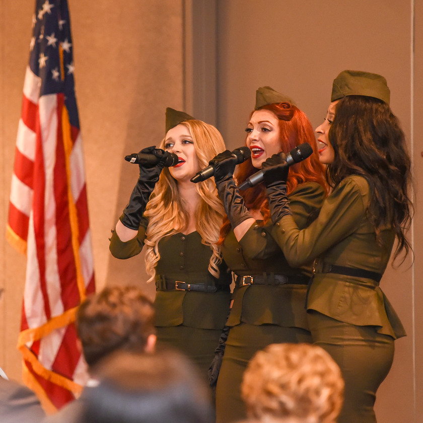 American Bombshells singing The National Anthem at Elizabeth Dole Foundation Salute to Hidden Heroes Event