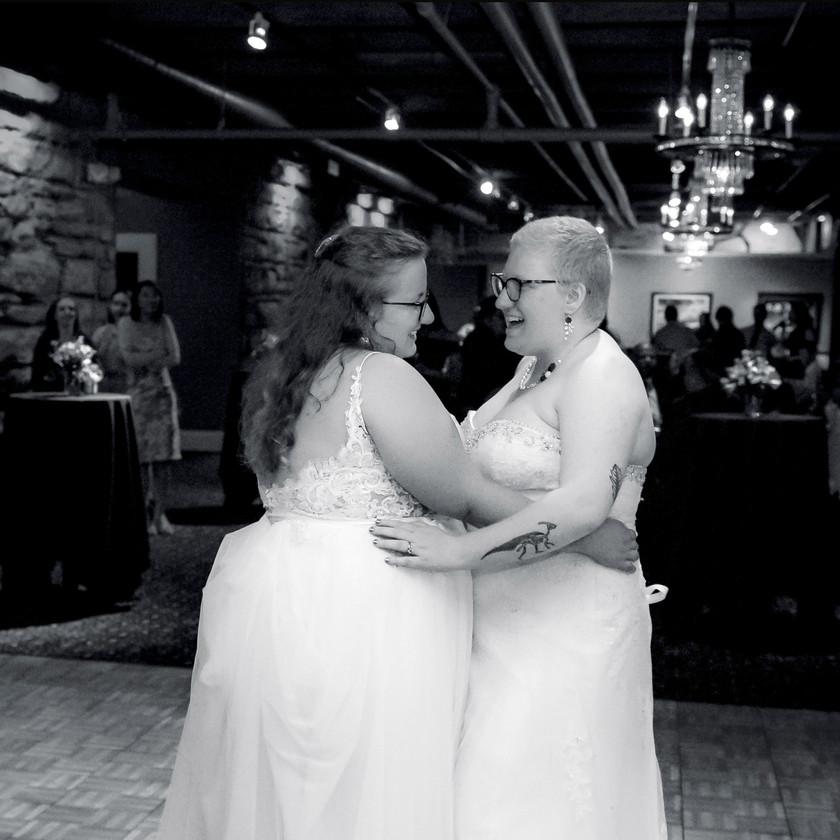 LGBT Wedding Couple first dance