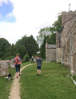 Arriving at Tolpuddle Church