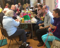 Picnic in the village hall