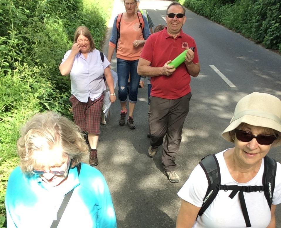 Walking through Athelhampton