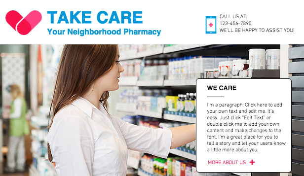 Health & Wellness website templates – Pharmacy