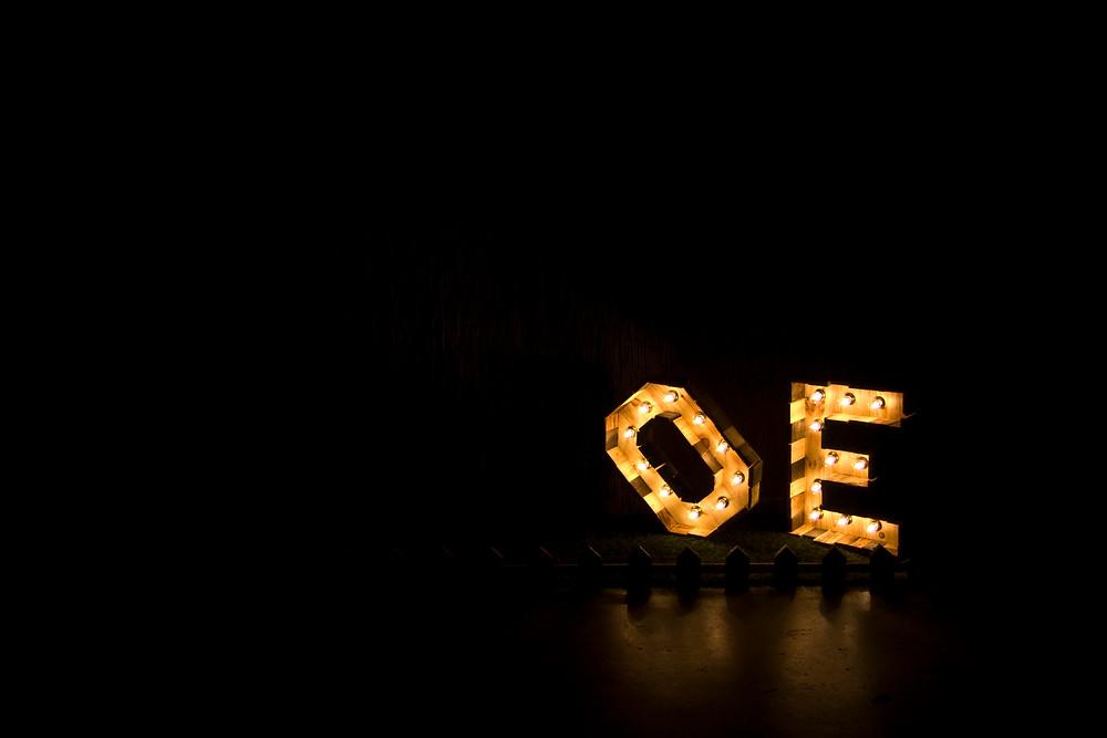 Letras para eventos con luz