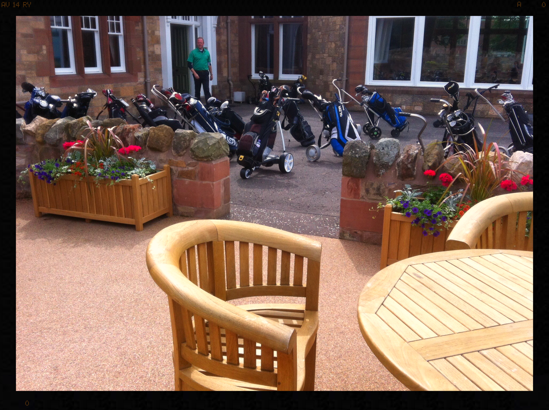 Seating area at Muirfield GC