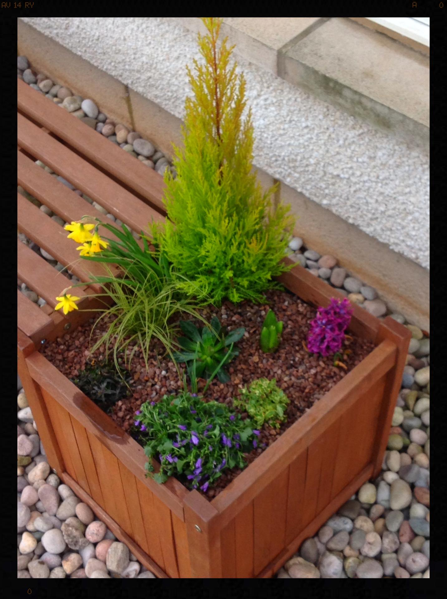 Bench seat planter