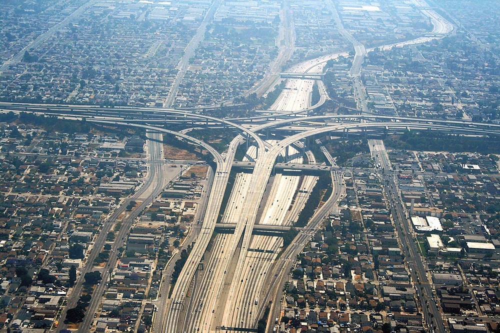 Los Angeles: 105 and 110 freeways