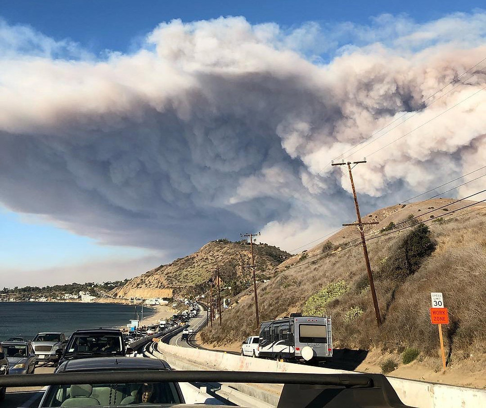 wildfire smoke from the Woolsey Fire in 2018