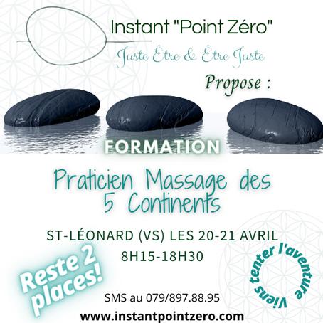 Formation Praticien en massage des 5 continents 20-21 avril