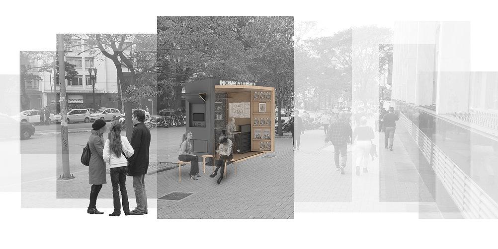 Manga Arquitetura_Mobiliário Urbano Quiosque Multiuso