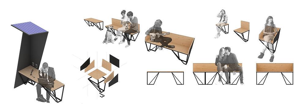 Manga Arquitetura_Mobiliário Urbano bancos