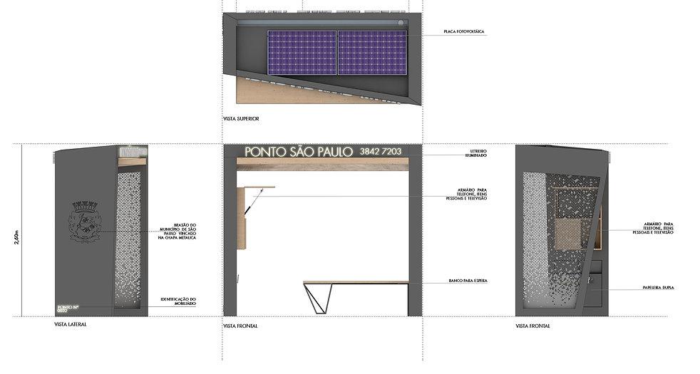 Manga Arquitetura_Mobiliário Urbano Ponto Táxi