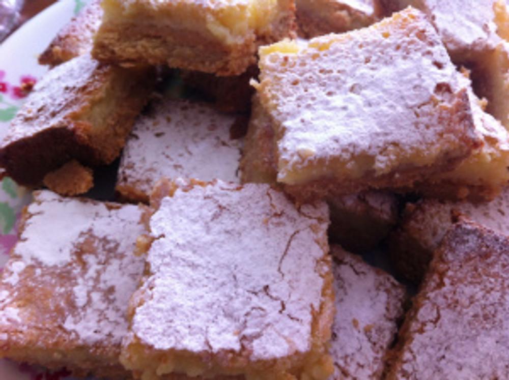 Lemon Squares baked for my village's Yard Sale