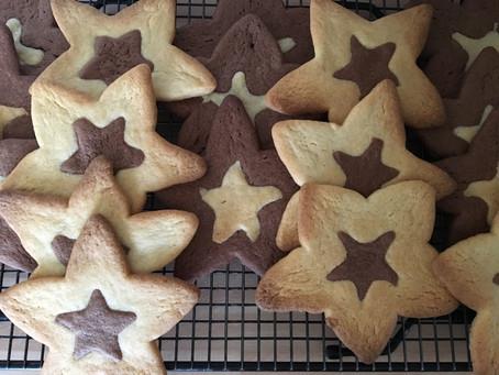 Chocolate Orange Star Cookies.