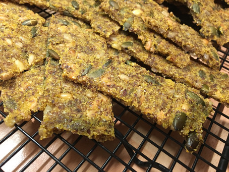 The Great British Bake Off Christmas- Seedy Flatbread Crackers.