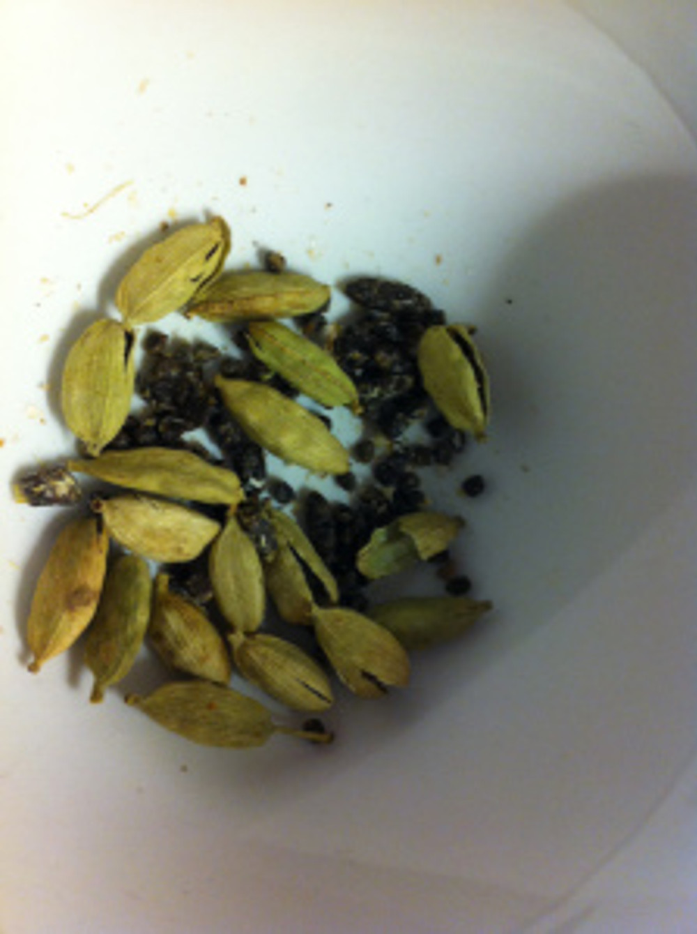 You needed quite a few cardamom pods to get a teaspoonful out of it!