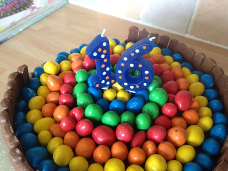 Chocolate and Peanut M&M Cake-  The Clandestine Cake Club A Year of Cake May Bakealong