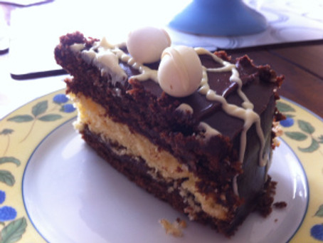 White and Dark Chocolate Easter Cake