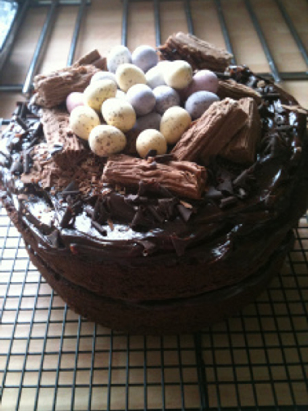 Another version of the Old Fashioned Chocolate Cake, this time I've added Cadbury's Chocolate Flakes and Mini Eggs to look like an Easter nest on top of the cake.