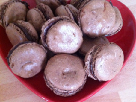 Cooking The Books February 2014- Chocolate Macaroons from How To Be A Domestic Goddess.
