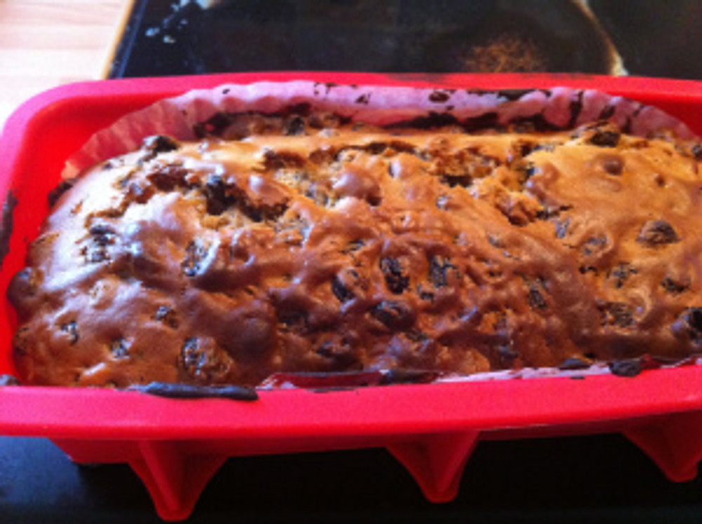 Just out of the oven and cooling down after about 50 minutes baking time.