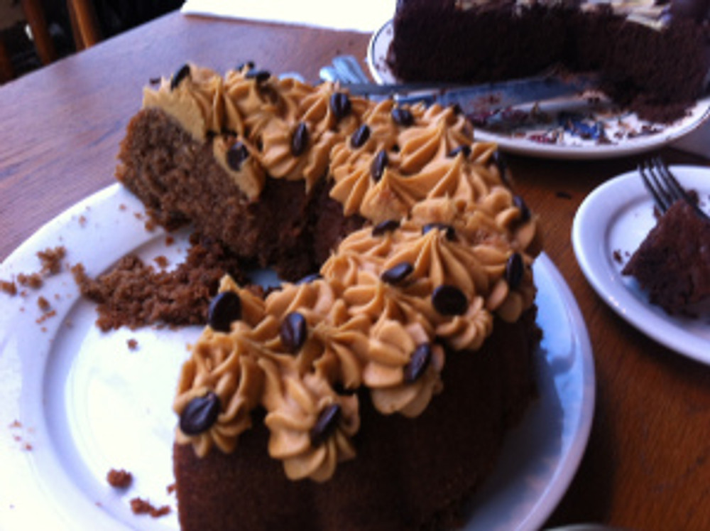 I enjoyed my slice of coffee cake as it was not too sweet and sickly.  It had a great coffee hit and went down well at cake club and at home too!