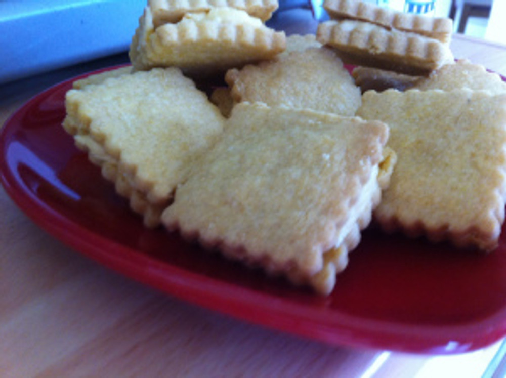 Custard Creams as made from Jo Wheatley's A Passion For Baking Book.