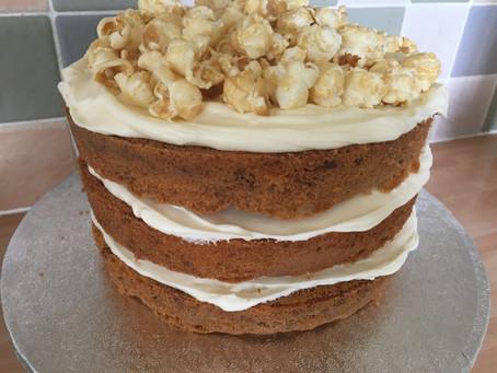 Pecan Pie Popcorn Naked Cake.