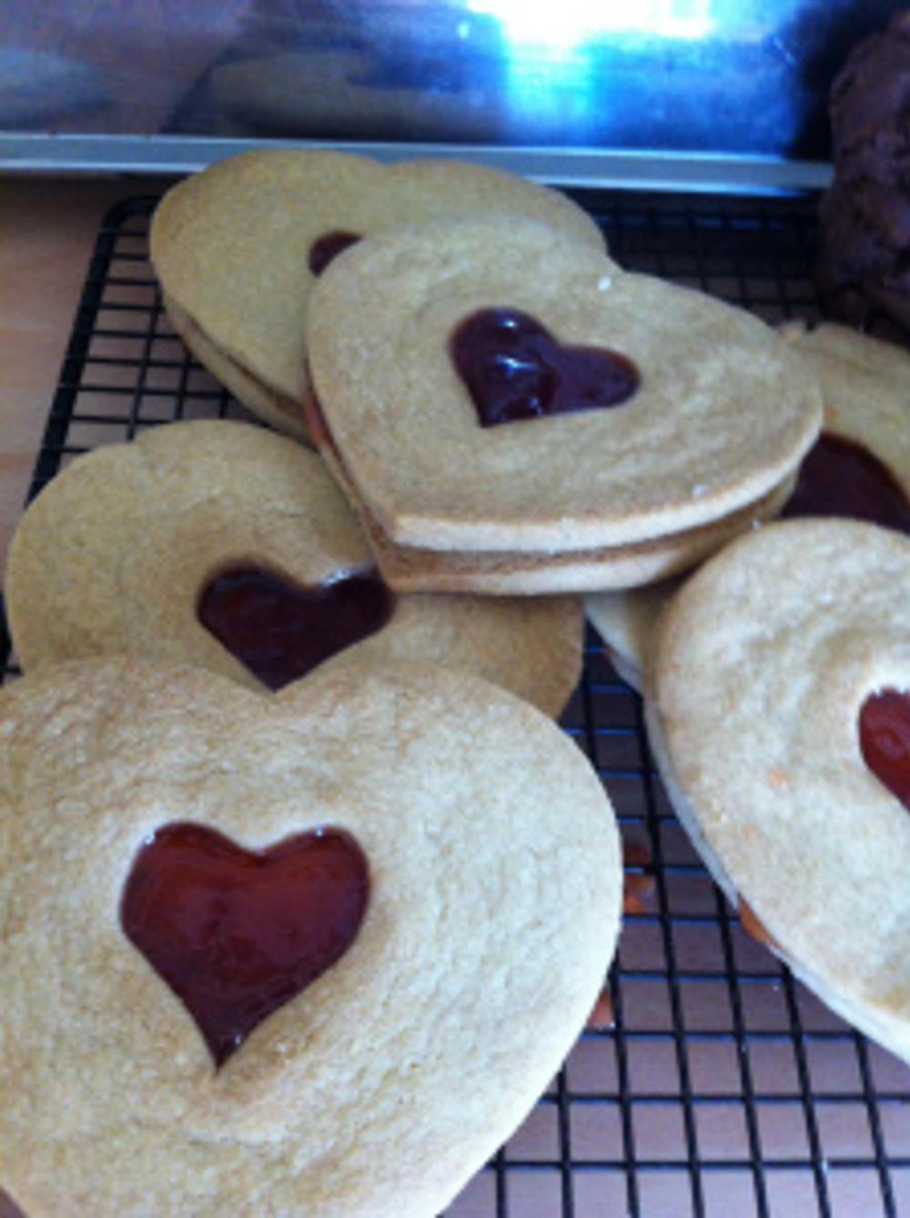 Giant Linzer Cookies