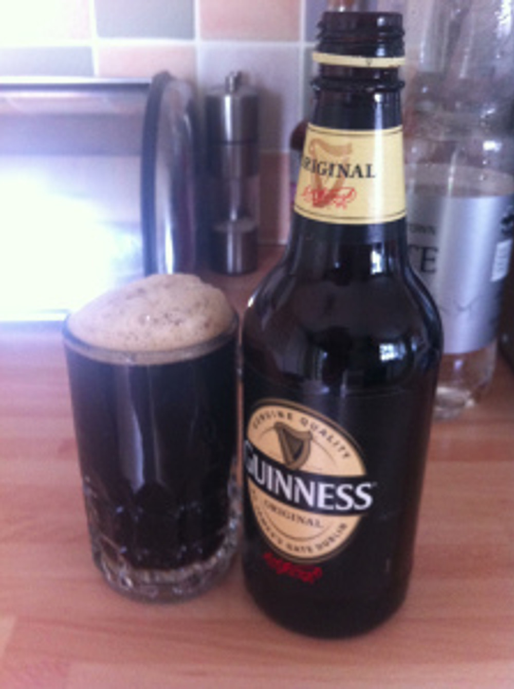 There was enough Guinness left over for my hubby to have half a pint before lunch!
