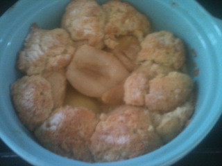 Pear and Ginger Cobbler