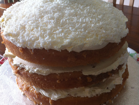 Coconut and Mojito Tres Leches Cake- my own recipe featured in The Clandestine Cake Club A Year Of C