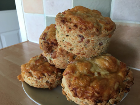 Pancetta, Cheddar and Chive Scones.