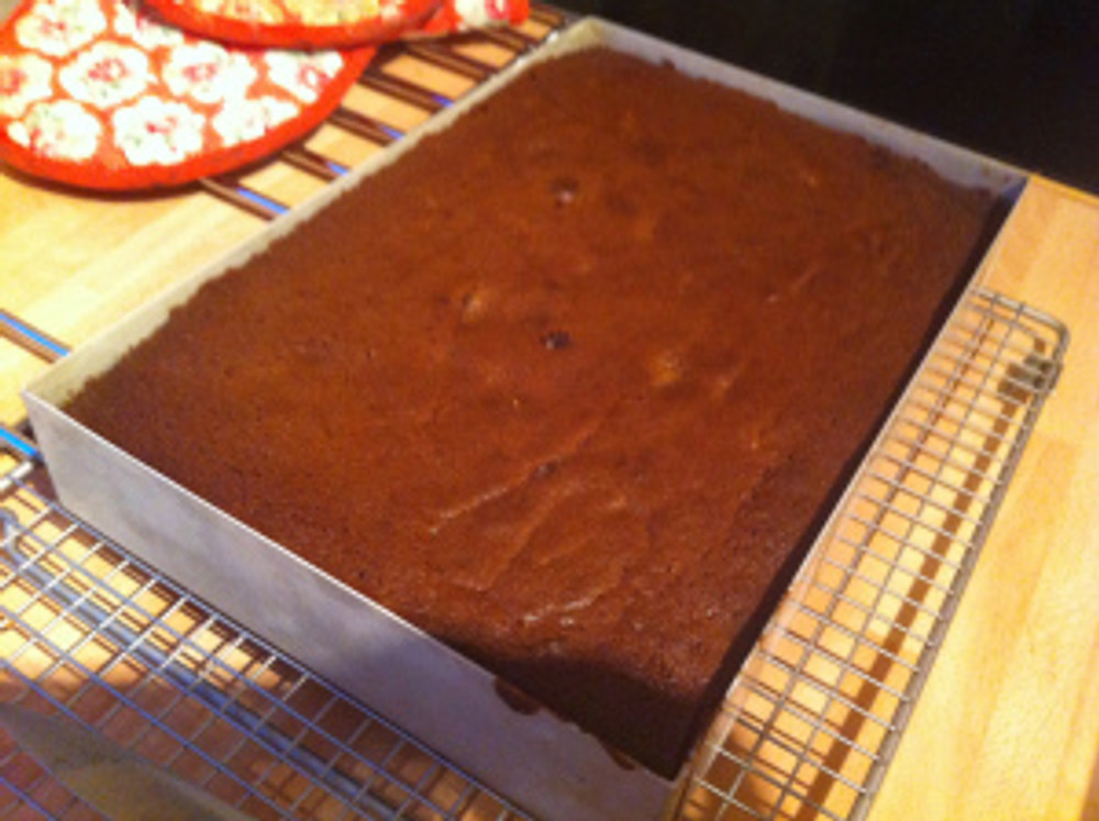 After about 35 minutes cooking time, this is what the traybake looked like.  My kitchen smelled divine!