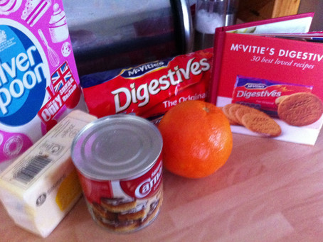 Best Loved Recipes- Orange and Digestive Biscuit Fridge Cake Slices