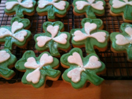 St Patrick's Day Cookies and Cakes.