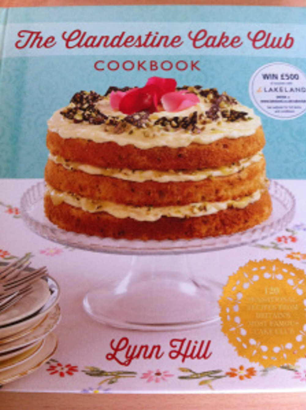 My favourite cookbook at the moment, the fabulous Clandestine Cake Club Cookbook available in all good bookshops!