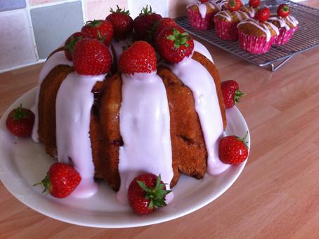 Strawberry Yoghurt Bundt and Muffins.