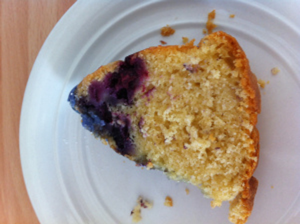 A small slice of cake for pudding. Wonderful with a spoonful of creme fraiche.