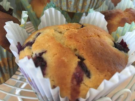 Blueberry and Lemon Yoghurt Muffins
