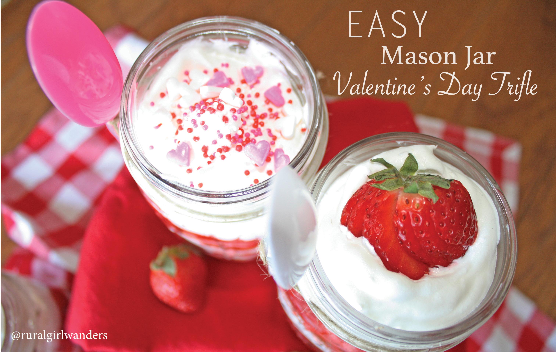 EASY MASON JAR VALENTINE'S DAY TRIFLE | ruralgirlwanders